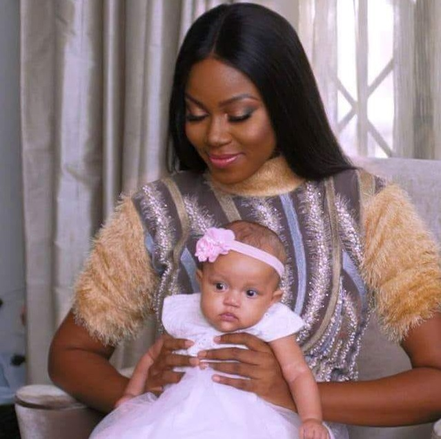 Yvonne Nelson and her baby girl