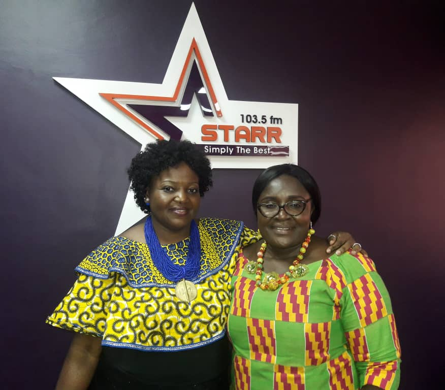 Eyram Bashan host of Starr Woman Show with Linda Ofori Kwafo (R) of the GII/OSP