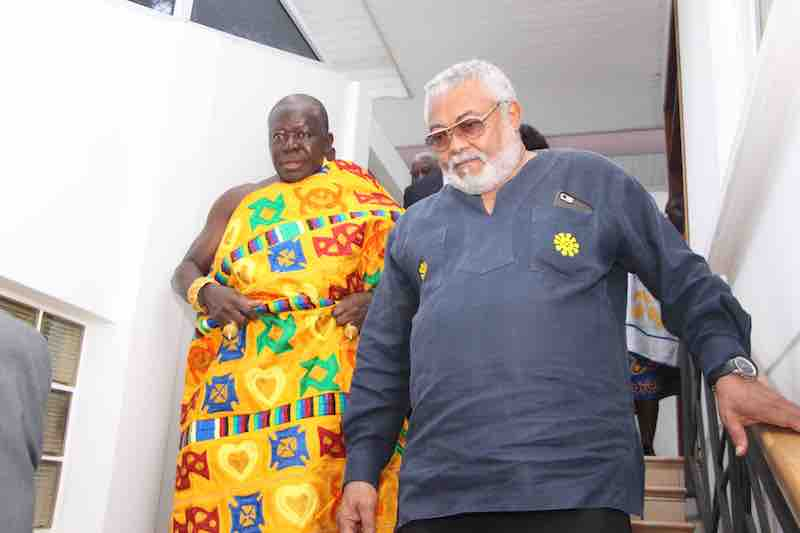 Otumfuo and Rawlings at the Residence