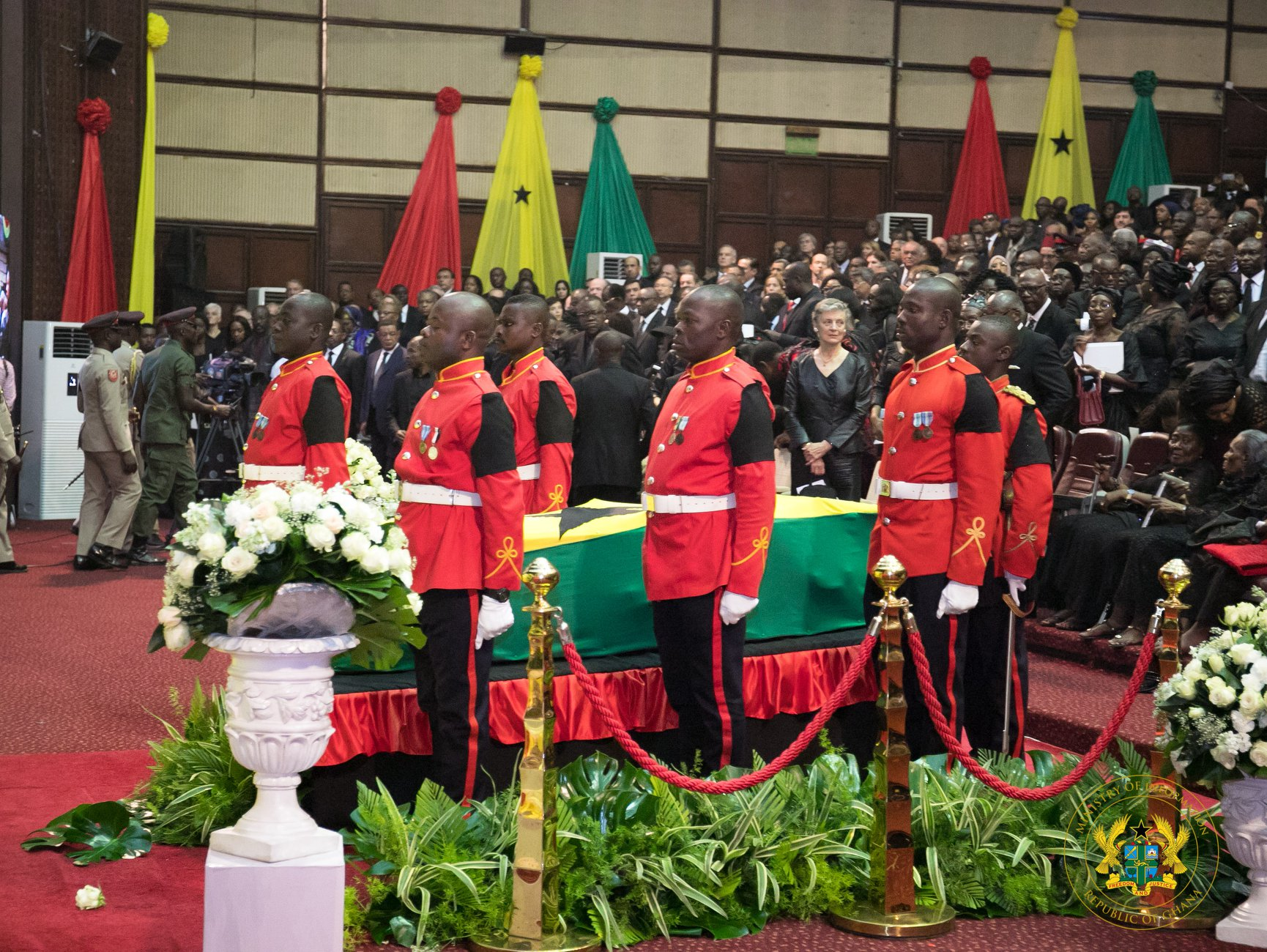 Casket of Kofi Annan at the Conference Centre