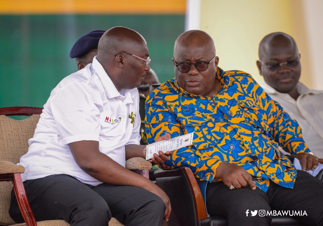 Bawumia in a chat with Akufo-Addo