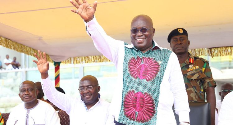Nana Akufo-Addo and his vice Dr. Mahamudu Bawumia graced the passing out