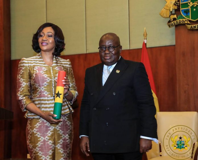 Akufo-Addo and Jean Mensa during her appointment