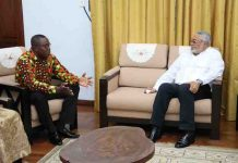 Rawlings and Ofosu Ampofo, chairman of NDC