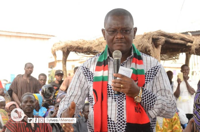 Sylvester Mensah addressing the delegates