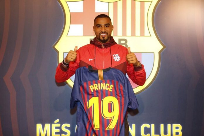 f8ae6511038 Ghana International Kevin-Prince Boateng will wear the number 19 shirt at  new club Barcelona after completing his loan switch from Italian side  Sassuolo on ...