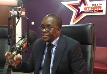 Alban Bagbin on Morning Starr | Photo: Miranda Aforkor Tetteh