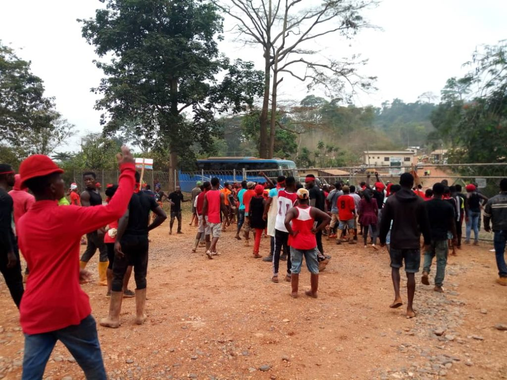 A/R: Residents protest as they demand compensation from Asanko Mining