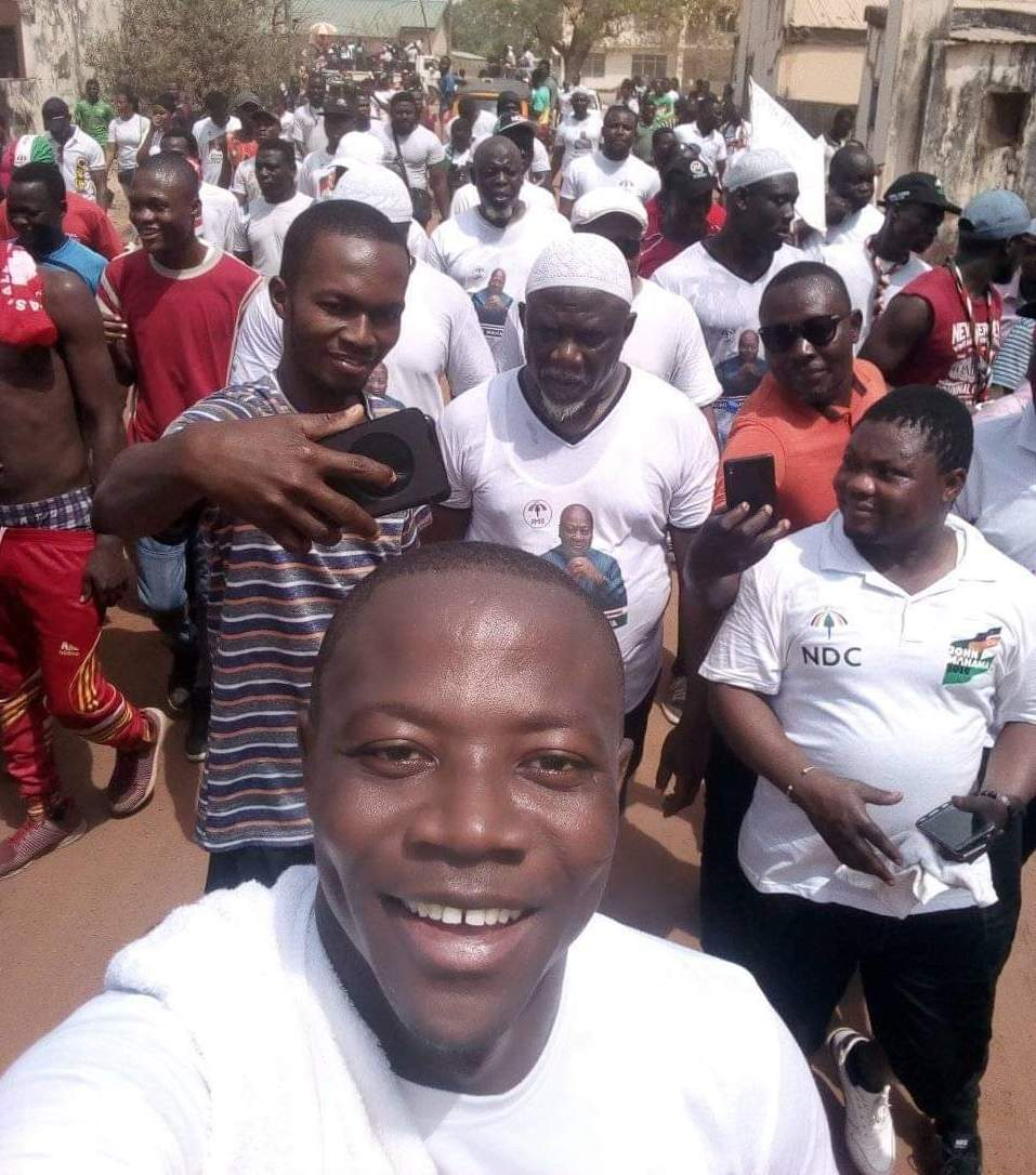NDC's Vice National Chairman, Chief Sofo Azorka, led the health walk in Navrongo at the weekend