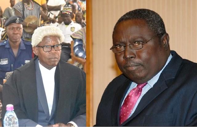 Justice Boon (left), Ghana's Special Prosecutor, Martin Alamisi Burnes Kaiser Amidu (right)