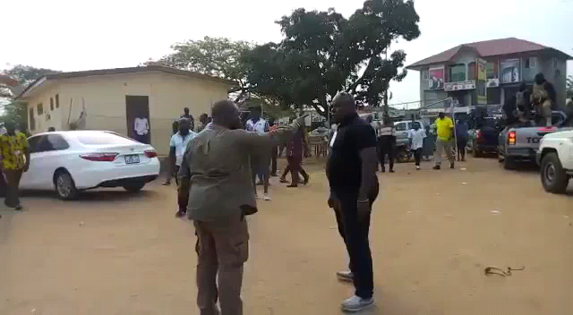Sam George and Sulemana moments before the slap