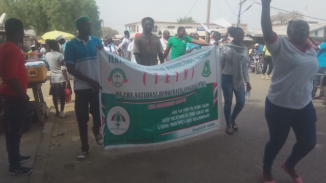 The walk took party supporters through the main streets of Navrongo