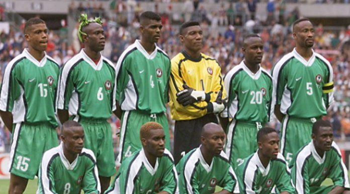 25f487280 Super Eagles  Class of 1994 –the team that qualified Nigeria for her first  –ever FIFA World Cup finals and won the Africa Cup of Nations for the first  time ...