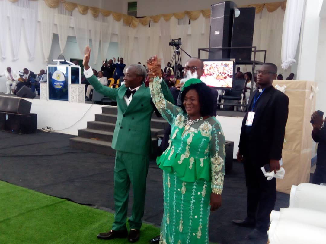 Rev. Alexander Ofori Amankwaa and his wife at the send off event