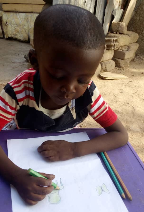 Clever Toby loves reading and he is gifted at drawing and painting
