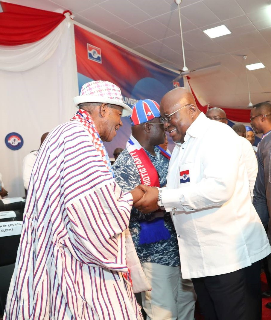 President Akufo-Addo with C.K Tedam at the 2017 NPP National Delegates Conference