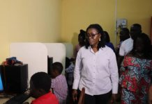 Ursula Owusu-Ekuful at one of the centres