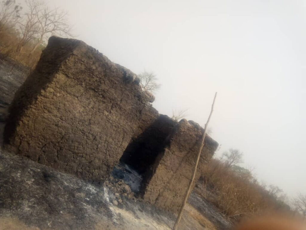 family sleeps outside as herdsmen set their home ablaze