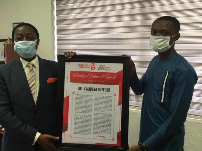 NUGS honours Kwabena Duffuor for contribution to youth development