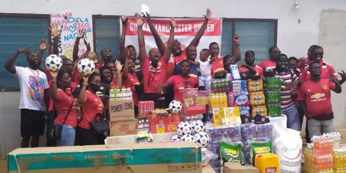 Ghana Man United Supporters donate to Nectar Foundation