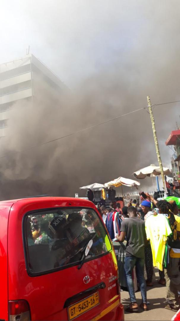 Video: Fire ravages Kantamanto GCB bank