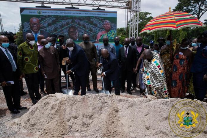 Akufo-Addo cuts sod for 20 residential facilities for appeal court judges  in kumasi - Starr Fm